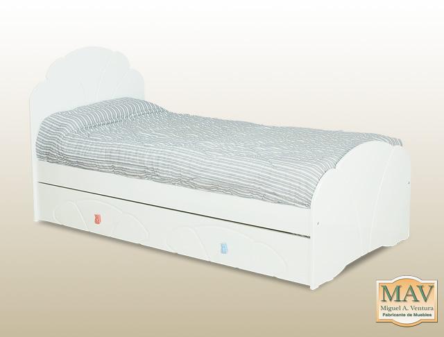 Mav miguel a ventura fabricante de muebles for Cama de una plaza